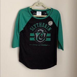 Women's Slytherin 3/4 sleeve top